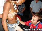 Ebony Girl Naked in Porn theater